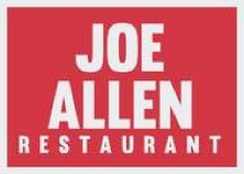 15% discount on food at Joe Allen