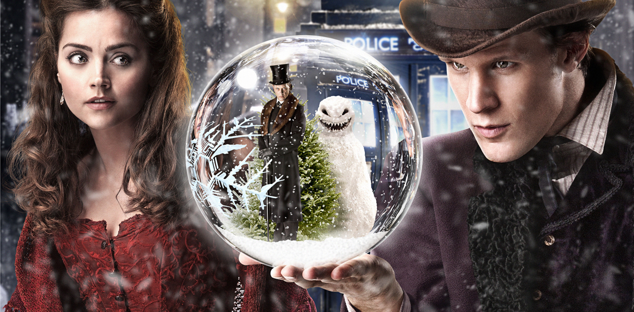 Jenna-Louise Coleman and Matt Smith in the Doctor Who Christmas Special. Photo: Adrian Rogers/BBC