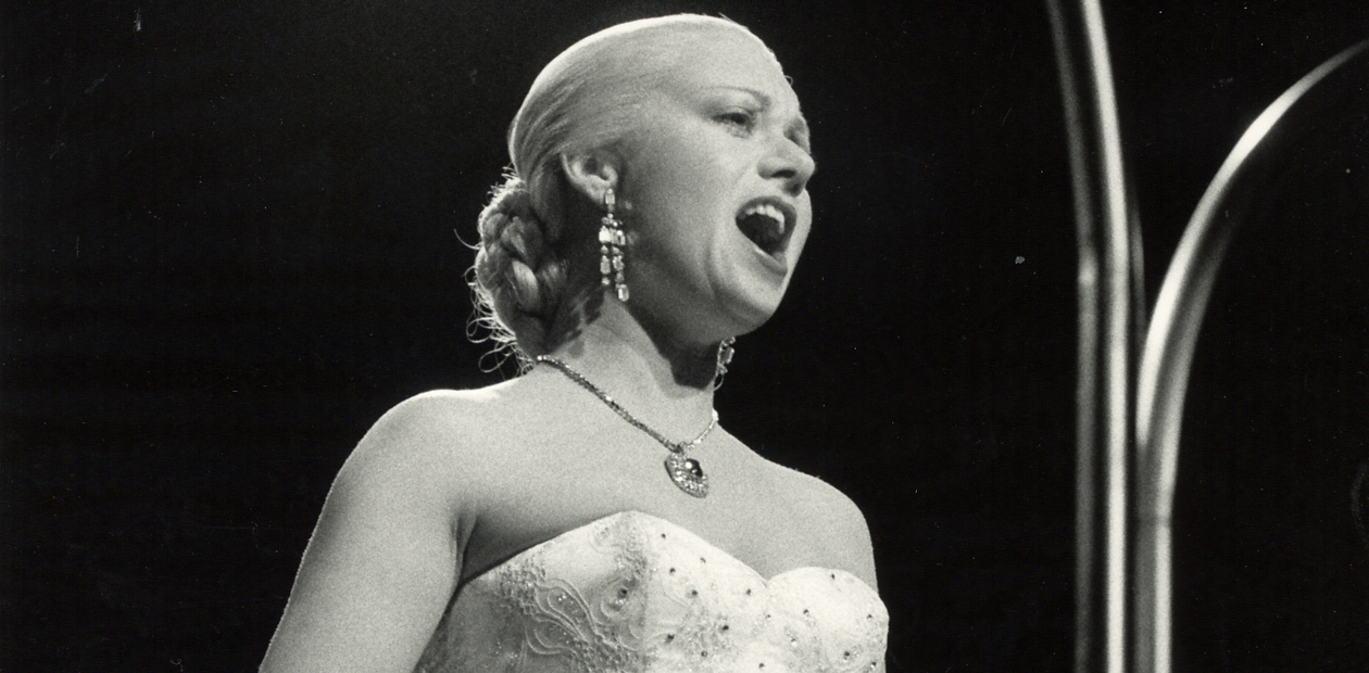 Elaine Paige in Evita at the Prince Edward Theatre in 1978