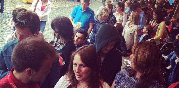 Queues waiting to see an Edinburgh performance. Photo: Stuart Piper