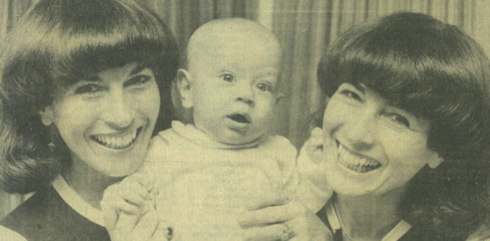 Stuart Piper with his grandmother and her twin sister, known as the Mackrell Twins. Photo: Courtesy of the Surrey Herald