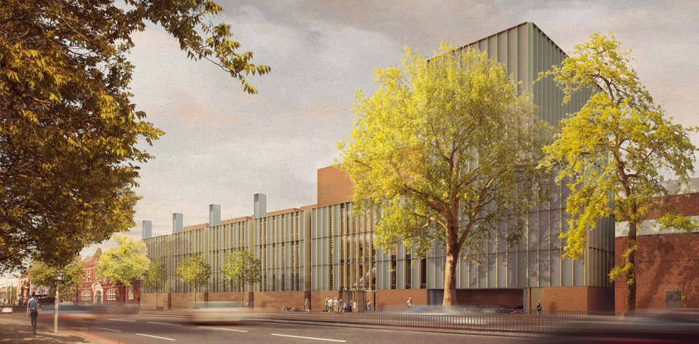 Artists impressions of the new LAMDA building, which will house two new theatres. Photo: Picture Plane