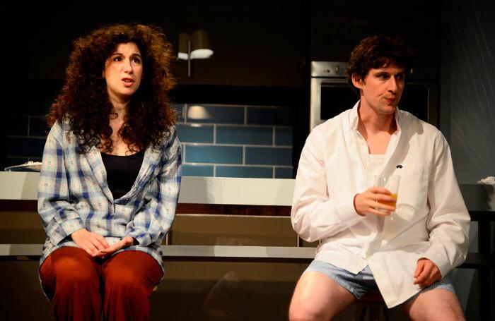 Jenna Auden and Joe Coen in Bad Jews. Photo: Nobby Clark