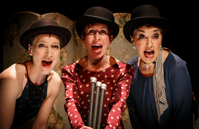 Sarah-Louise Young, Anna-Jane Casey and Ria Jones in Jerry's Girls at St James Studio. Photo: Darren Bell