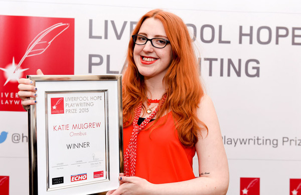 Katie Mulgrew wins inaugural Liverpool Hope Playwriting Prize