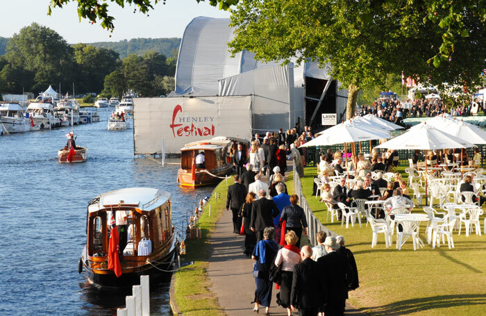 Henley Festival and its floating stage