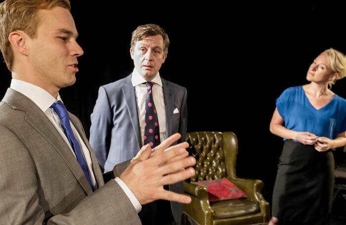 Laurence Dobierz, Alan Cox and Joanna Bending in Kingmaker. Photo: Jeremy Abrahams