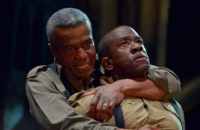 Hugh Quarshie and Lucian Msamati in the RSC's Othello. Photo: Keith Pattison