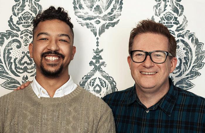 Jamaal Burkmar, winner of the New Adventures Choreographer award 2015, with Matthew Bourne. Photo: Danilo Moroni