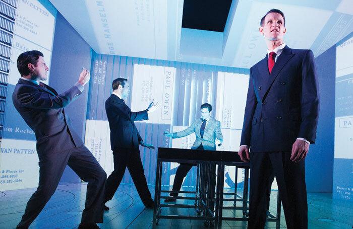 American Psycho at London's Almeida Theatre, starring Matt Smith, right, was partly financed through crowdfunding platform Kickstarter. Tristram Kenton