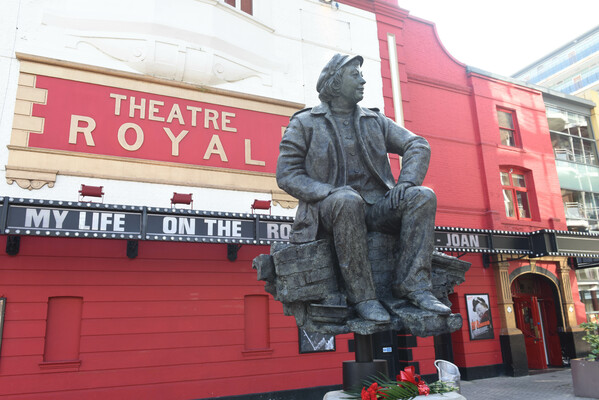Joan Littlewood sculpture unveiled outside Theatre Royal Stratford East