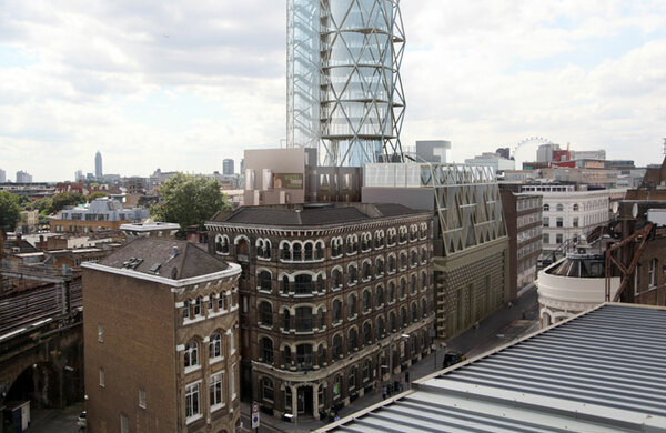 Rocket-shaped London theatre building rejected by council