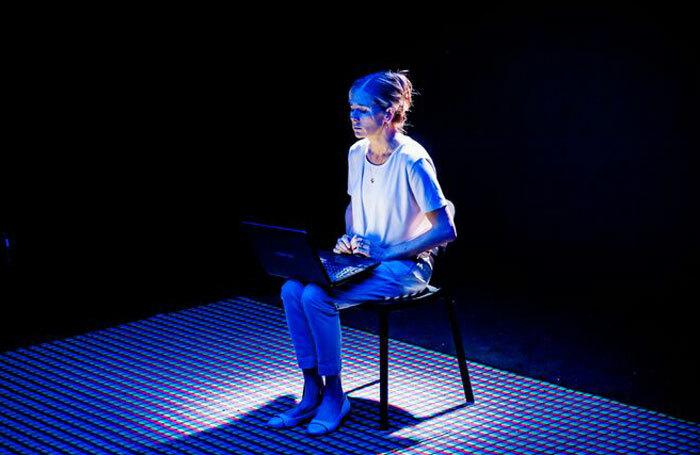 Kate Maravan in Four Minutes Twelve Seconds at Trafalgar Studios, London. Photo: Ikin Yum