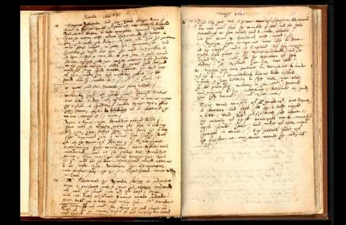 John Manningham's Diary, 1602. Photo: British Library