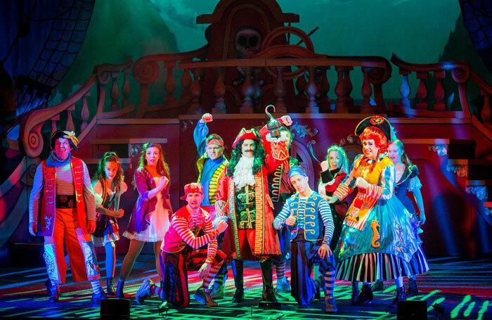 Peter Pan at the Devonshire Park Theatre, Eastbourne. Photo: Robert Workman