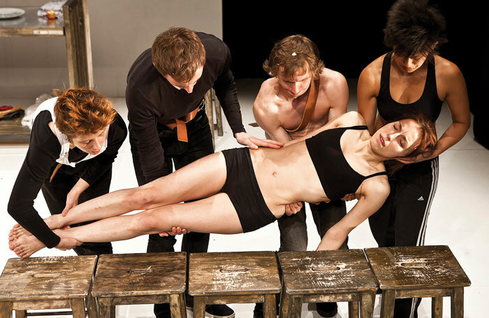 Belarus Free Theatre performs Trash Cuisine, which looks at ideas around capital punishment. Photo: Simon Annand