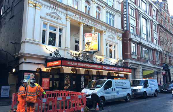 Shows cancelled at Duke of York's after flooding