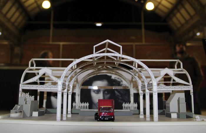 production designer Dick Bird's model of Manchester's Campfield Market