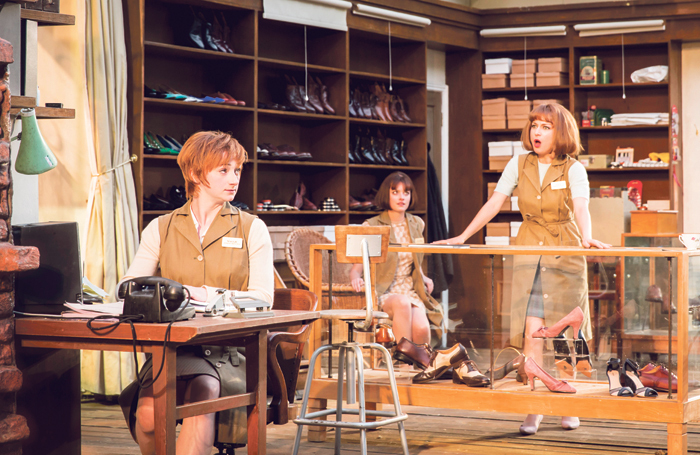 Jodie McNee, Hannah Britland and Nadia Clifford in Hobson's Choice at Regent's Park Open Air Theatre in 2014.. Photo: Johan Persson