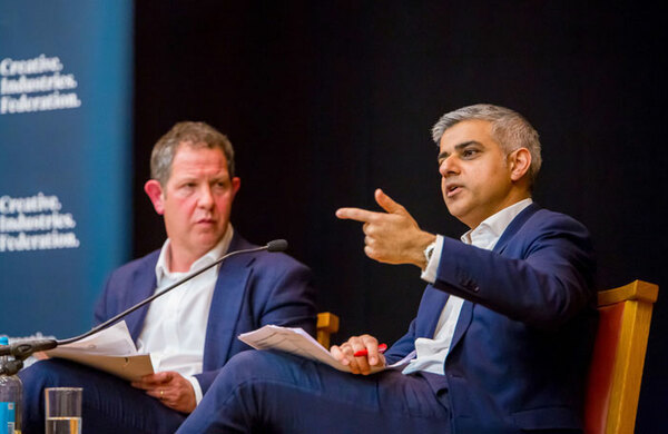 Sadiq Khan vows to increase arts donations if elected London mayor