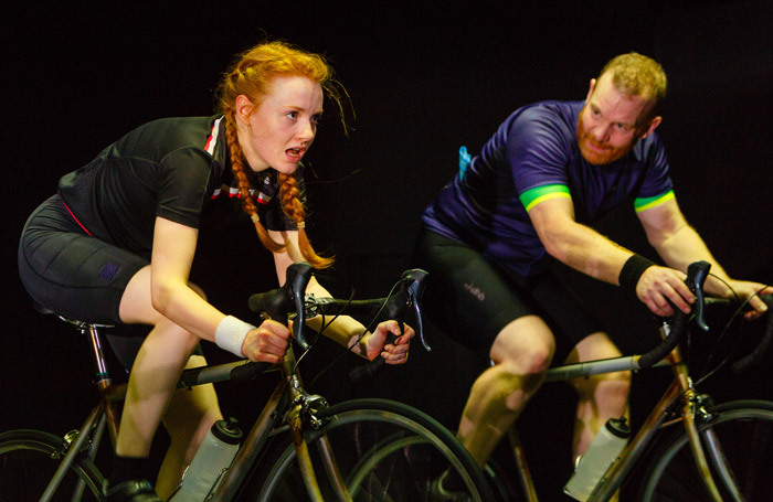 Harriet Slater and Tim Chipping in the Man with the Hammer at Theatre Royal, Plymouth. Photo: Steve Tanner