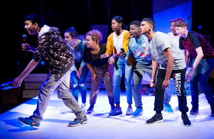 A scene from Brainstorm at the Temporary Theatre, National. Photo: Camilla Greenwell
