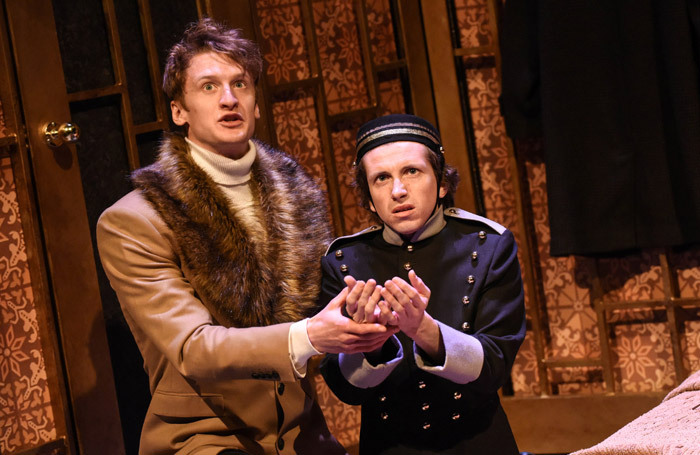Scene from The Government Inspector at Birmingham Repertory Theatre. Photo: Robert Day