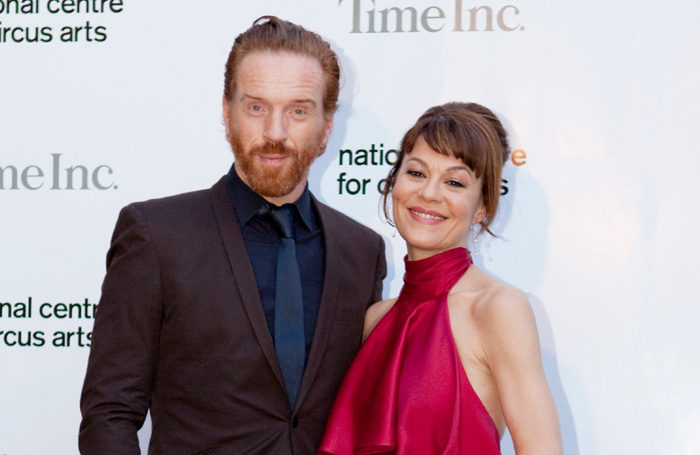 Actors Damian Lewis and Helen McCrory at the  National Centre for Circus Arts fundraising gala. Photo: Ludovic des Cognets