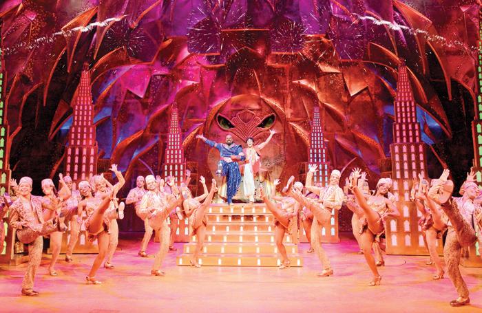 A scene from from Broadway's Aladdin. Photo: Deen van Meer