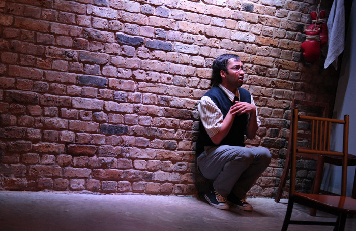 Asif Khan in Love, Bombs and Apples at Arcola Theatre, London.