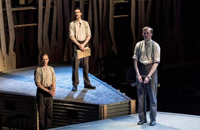 Steffan Lloyd-Evans, Joshua Manning and Joshua Miles in The 306: Dawn. Photo: Manuel Harlan