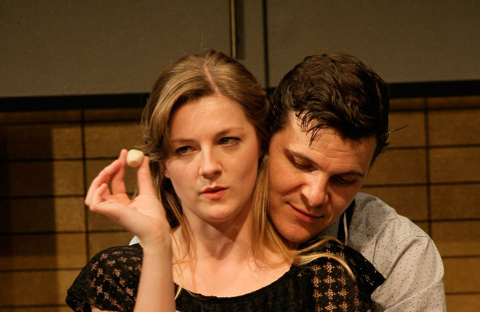 Gemma McElhinney and Christopher Price in FlatSpin at Pitlochry Festival Theatre. Photo: Douglas McBride