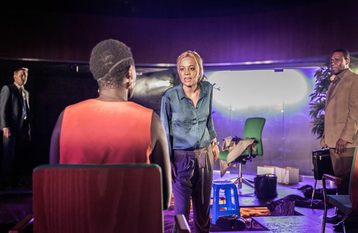 Fiona Button in They Drink It in the Congo at the Almeida Theatre, London. Photo: Marc Brenner