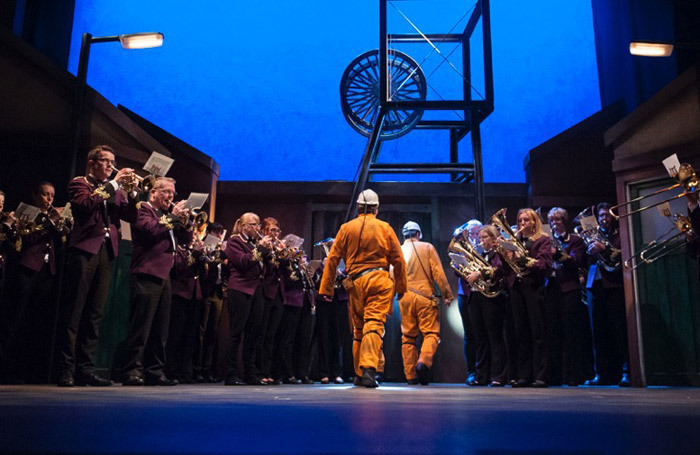 The Delph Band In Brassed Off at Oldham Coliseum. Photo: Joel C Fildes