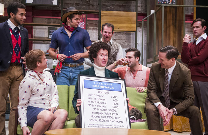 Mark Gatiss (centre) in Boys In The Band at the Park Theatre. Photo: Tristram Kenton