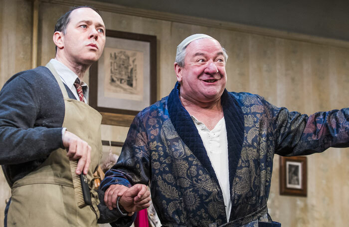 Reece Shearsmith and Ken Stott in The Dresser at the Duke of York's Theatre. Photo: Tristram Kenton
