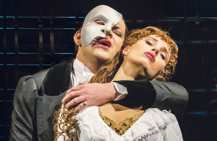 Ben Forster and Celinde Schoenmaker in The Phantom of the Opera. Photo: Johan Persson