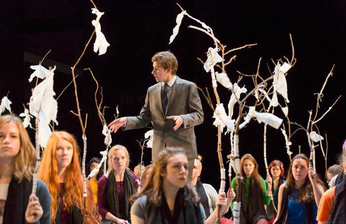 Oscar Batterham in The Suppliant Woman at the Royal Lyceum Theatre, Edinburgh. Photo: Stephen Cummiskey