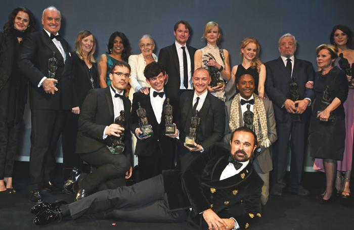 The Evening Standard's Evgeny Lebedev with the 2015 award winners. Photo: Dave Benett