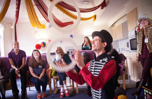 Upswing circus company to take work to care homes