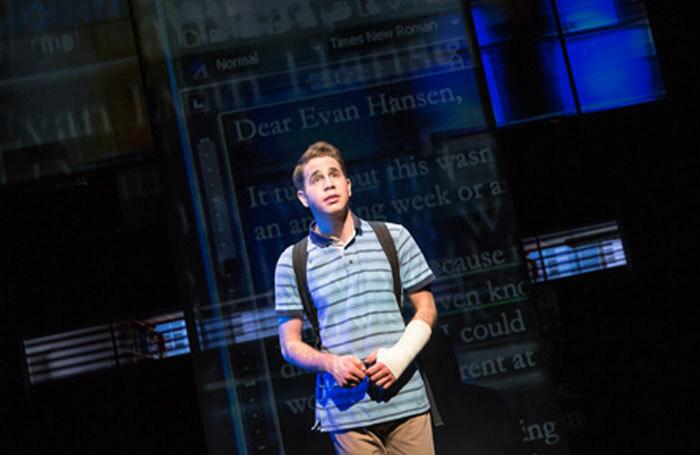 Ben Platt in Dear Evan Hansen. Photo: Matthew Murphy