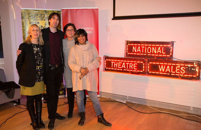 Wales Drama award winner William Smith (centre). Photo: Dan Green