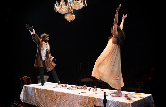 Martin Bonger and Sara Lessore in Beauty and the Beast at Cambridge Junction. Photo: Claire Haigh