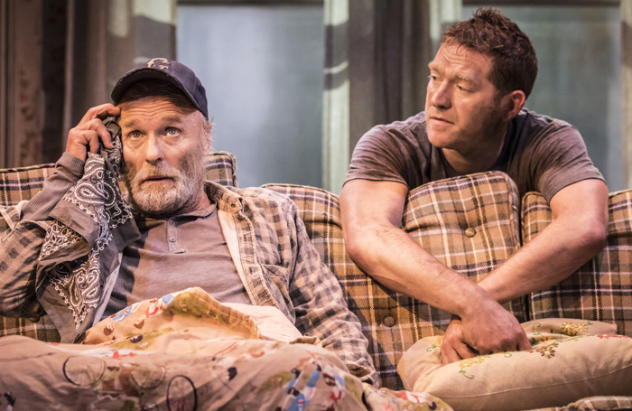 Ed Harris and Barnaby Kay in Buried Child at Trafalgar Studios. Photo: Johan Persson
