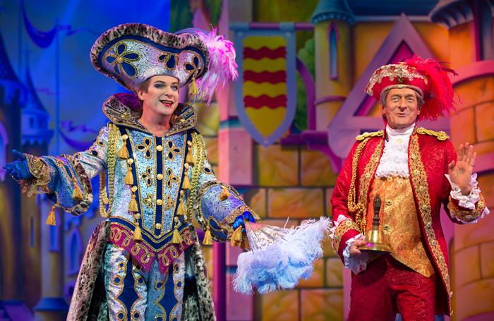 Julian Clary and Nigel Havers in Cinderella at the London Palladium. Photo: Paul Coltas/Steve Williams