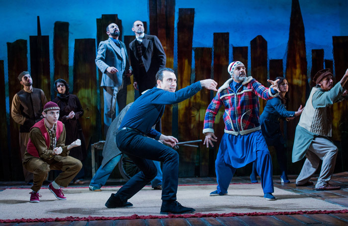 Ben Turner and the cast of The Kite Runner at Wyndham's Theatre, London. Photo: Robert Workman