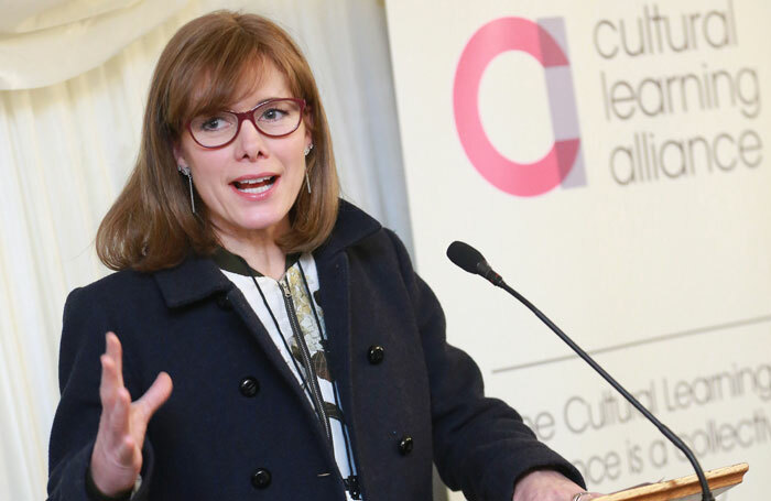 Darcey Bussell speaking at the launch of ImagineNation in Westminster. Photo: Cultural Learning Alliance