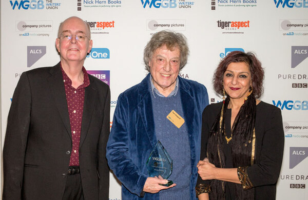 Tom Stoppard wins Writers' Guild outstanding contribution award