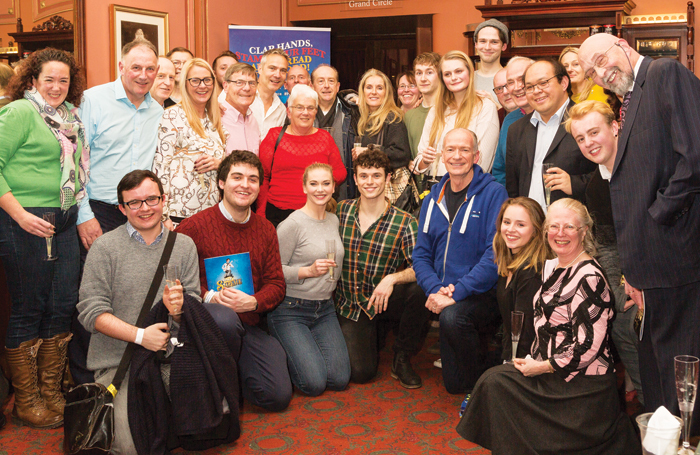 The cast of Half A Sixpence with members of Delfont Mackintosh Theatres' newly relaunched DMT+ membership scheme. Photo: Darren Bell
