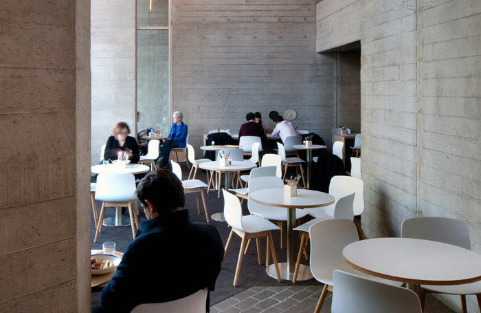 Atrium seating area in the Lyttelton foyer of the National Theatre. Photo: Philip Vile